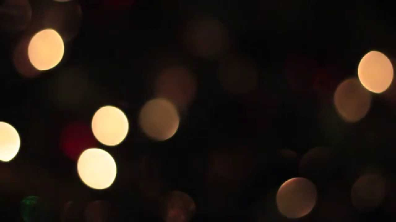 bokeh christmas lights youtube - Blurred Christmas Lights