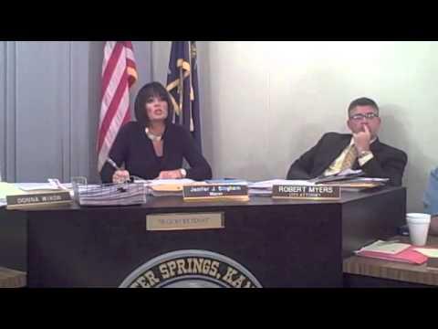 10-24-12 Baxter Springs City Council