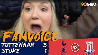 Tottenham 5-1 Stoke | Kane brace helped Spurs score 5 to smash Stoke at Wembley! | FanVoice