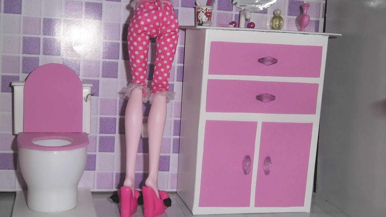 How To Make A Bathroom Sink Cabinet For Doll Monster