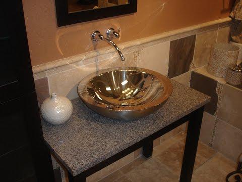 DIY Bathroom Vanity With Vessel Sink