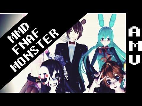 AMV ( Meg & Dia-Monsters ) FNAF '' MMD ''