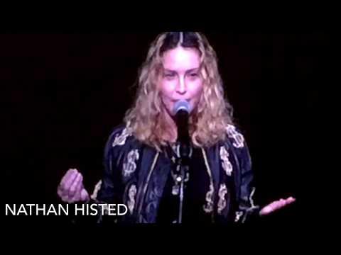 Madonna introducing Amy