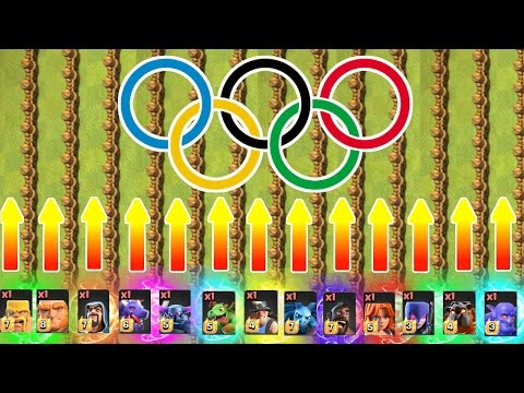 OLYMPIC GAMES!! 🔥 100 METRE SPRINT feat ALL TROOPS!! 🔥 Clash Of Clans