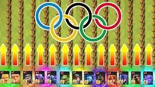 OLYMPIC GAMES!! ? 100 METRE SPRINT feat ALL TROOPS!! ? Clash Of Clans