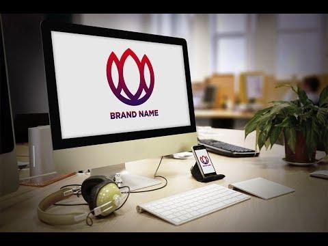 Simple Logo design Process using Illustrator | Logo design trend 2019 | gradient logo