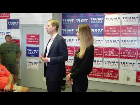 Eric and Lara Trump campaign in Auburn, Maine
