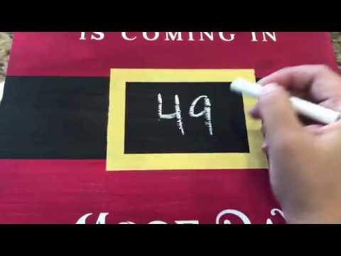 santa christmas countdown sign tutorial for silhouette cameo and cricut svg dxf stencil - Christmas Countdown Sign