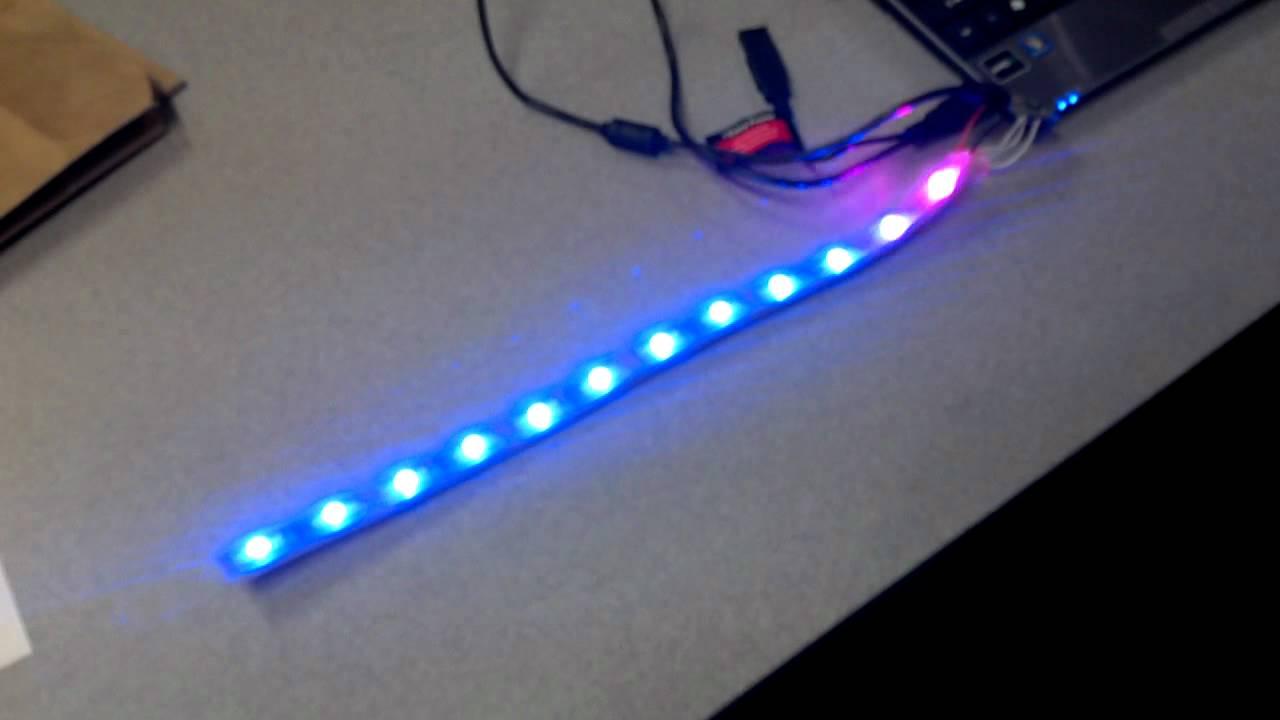 Rgb led strip with teensy arduino youtube rgb led strip with teensy arduino aloadofball Images