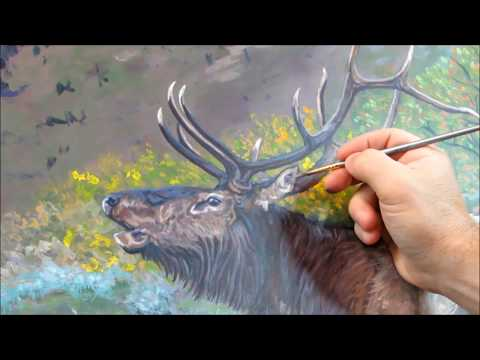 Painting Demonstration Mt. Oly Elk
