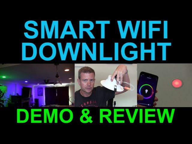 smart wifi rgbw led recessed downlight