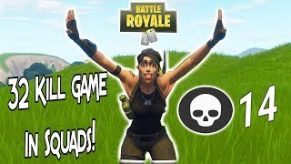 32 Game In Squads Of 3! | Xbox Fortnite Battle Royale