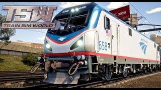 Amtrak Train in Train Sim World!