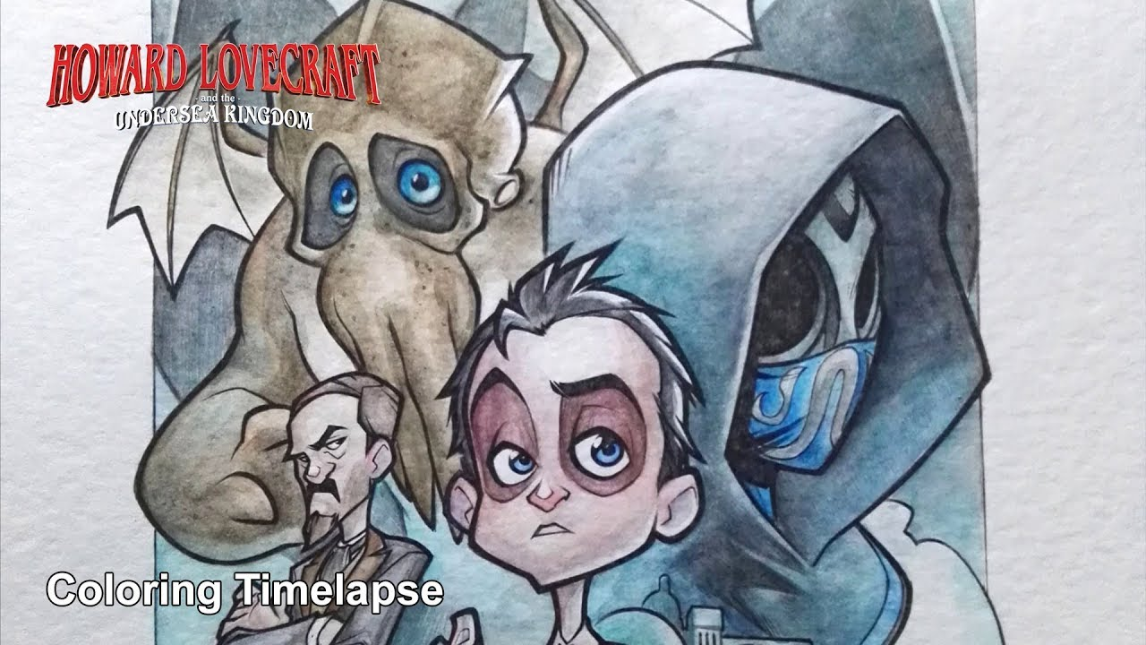 Download Howard Lovecraft and the Undersea Kingdom - Coloring Timelapse