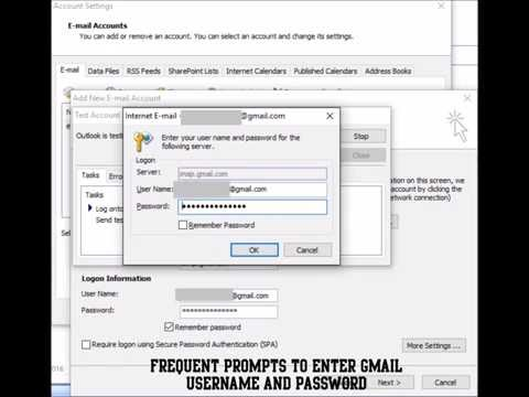 How To Resolve - Unable To Setup Gmail With Outlook - Login And Test Email Fails