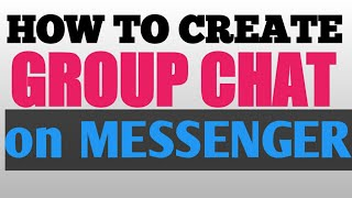 HOW TO CREATE GROUP CHAT ON MESSENGER (TAGALOG) | Philippines