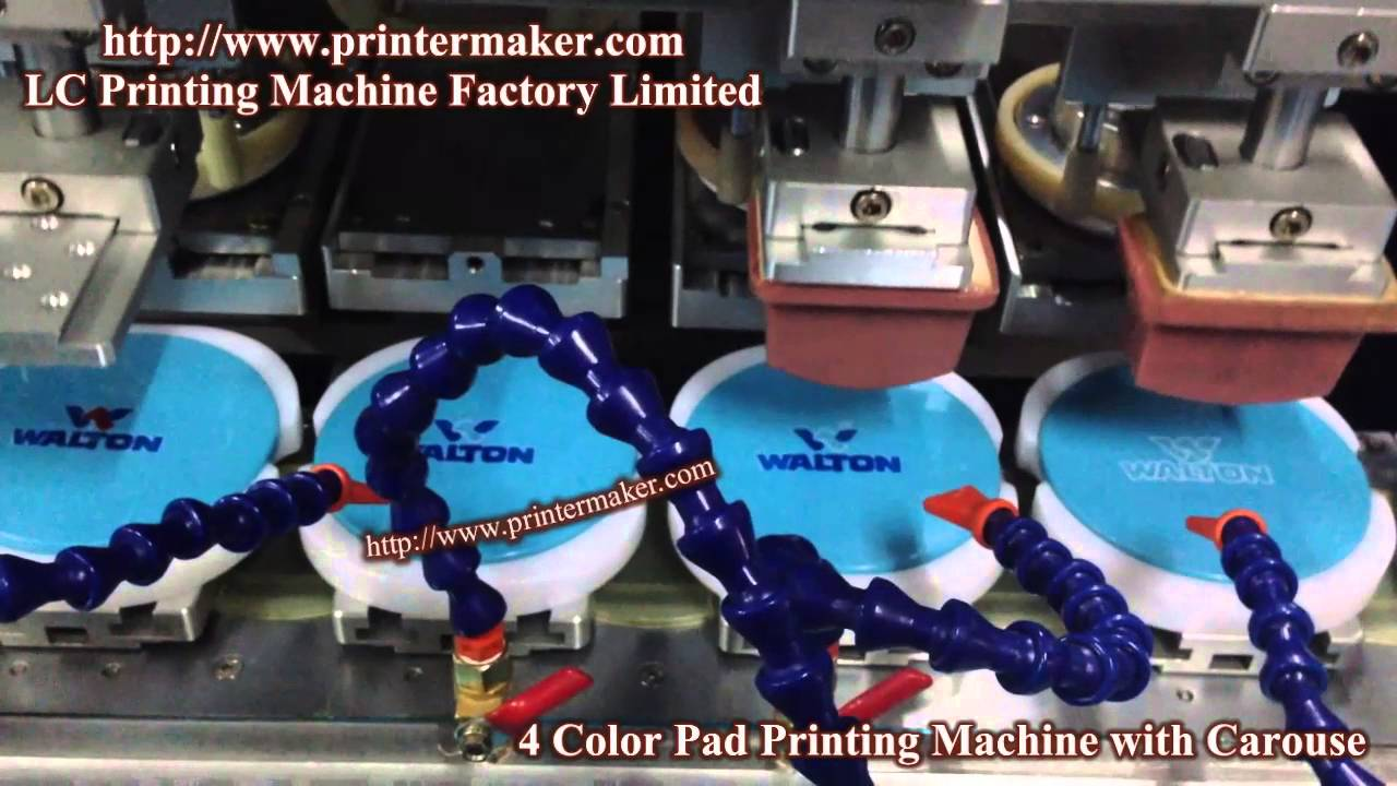 4 color pad printing machine with carouse