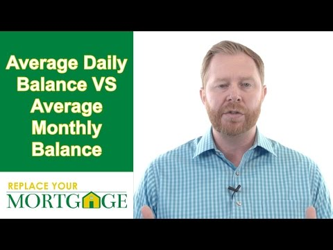 Home Equity Line Of Credit - Average Daily Balance VS Average Monthly Balance
