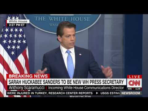 Scaramucci Announces Huckabee Sanders as Press Sec., Hopes Spicer Gets Rich