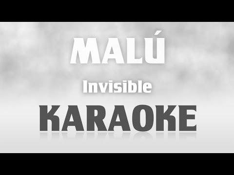Malú - Invisible (Karaoke) + Acordes