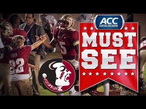ACC Must See Moment | Florida State's Jameis Winston Handshakes With Jimbo Fisher's Son | ACCDigi