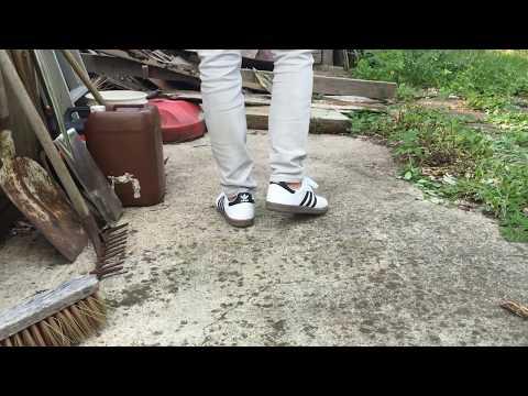Adidas Samba White ON FEET