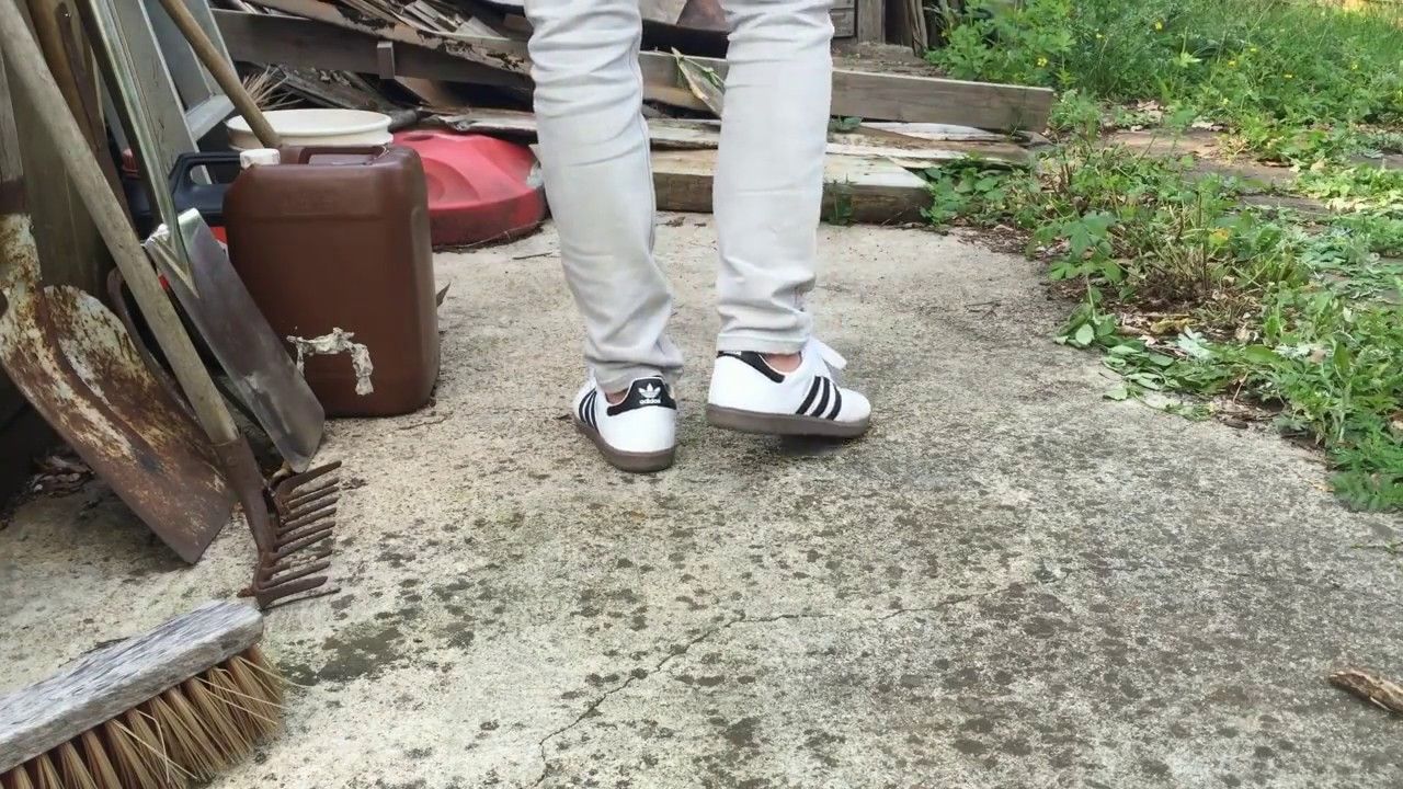 Adidas Samba White ON FEET - YouTube ec2204508