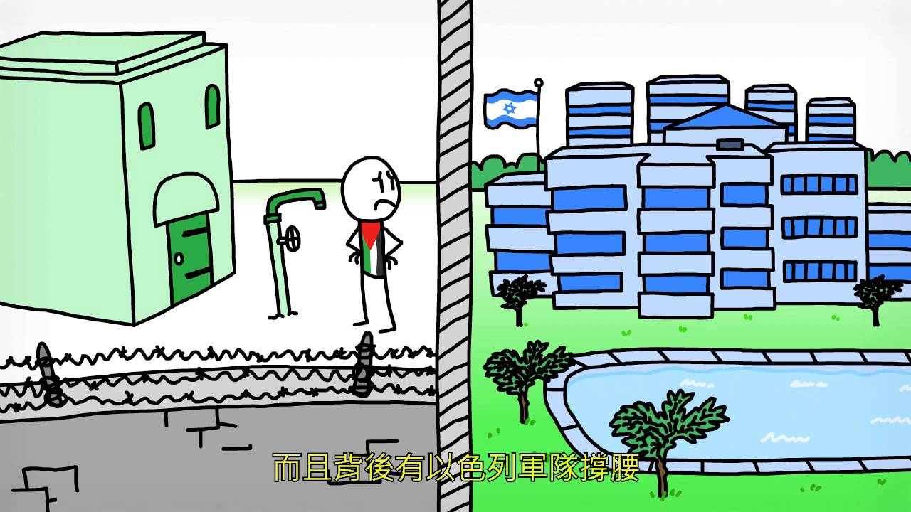 以色列和巴勒斯坦-動畫簡介 Israel and Palestine, an animated introduction.