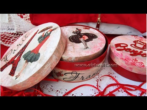 Vintage Shabby Chic Boxes DIY