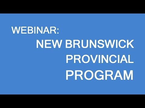 Free webinar: New Brunswick Provincial Programs. Skilled specialists and business