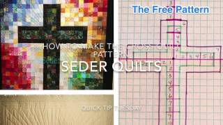 Free Pattern for Cross of Many Squares Quilt by SederQuilts
