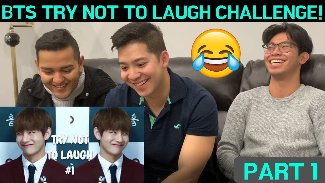 Reaction To Bts Try Not To Laugh Challenge Part 1 Youtube