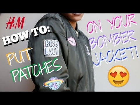 c7518ce52 How to: put H&M patches on bomber jacket!