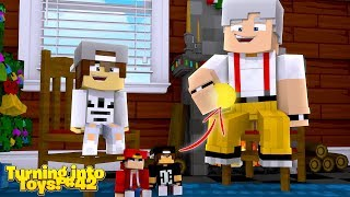 Minecraft Toys #42 - TOY ROPO & THE NICE KID MUST STEAL THE GRANDADS MAGIC COIN!