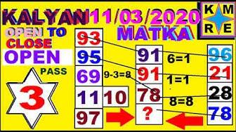 11/03/2020 KALYAN MATKA FREE OTC *KALYAN SATTA MATKA FINAL ANK FIX GAME TRICKS