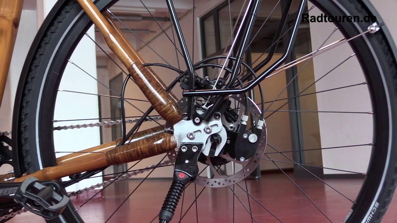 Trekking Fahrrad My Afram Speedhub mit Bambus Rahmen - YouTube