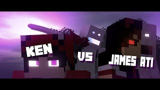 [Mine-imator Fight Animation]KEN VS JAMES/ATI
