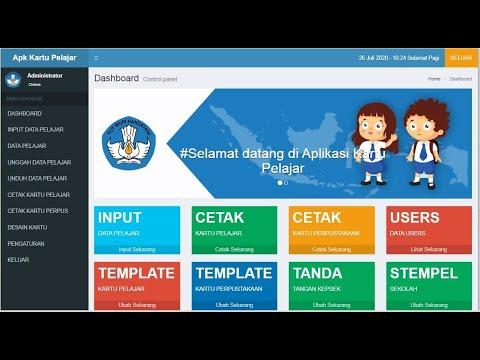 Sourcecode Aplikasi Cetak Kartu Pelajar Berbasis Web Youtube