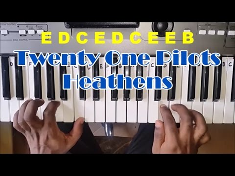 Twenty One Pilots Heathens Easy Piano Tutorial - How To Play Heathens by 21 Pilots