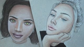 How to draw a person / color skin tones EASY & QUICK HD! | Alpha Art