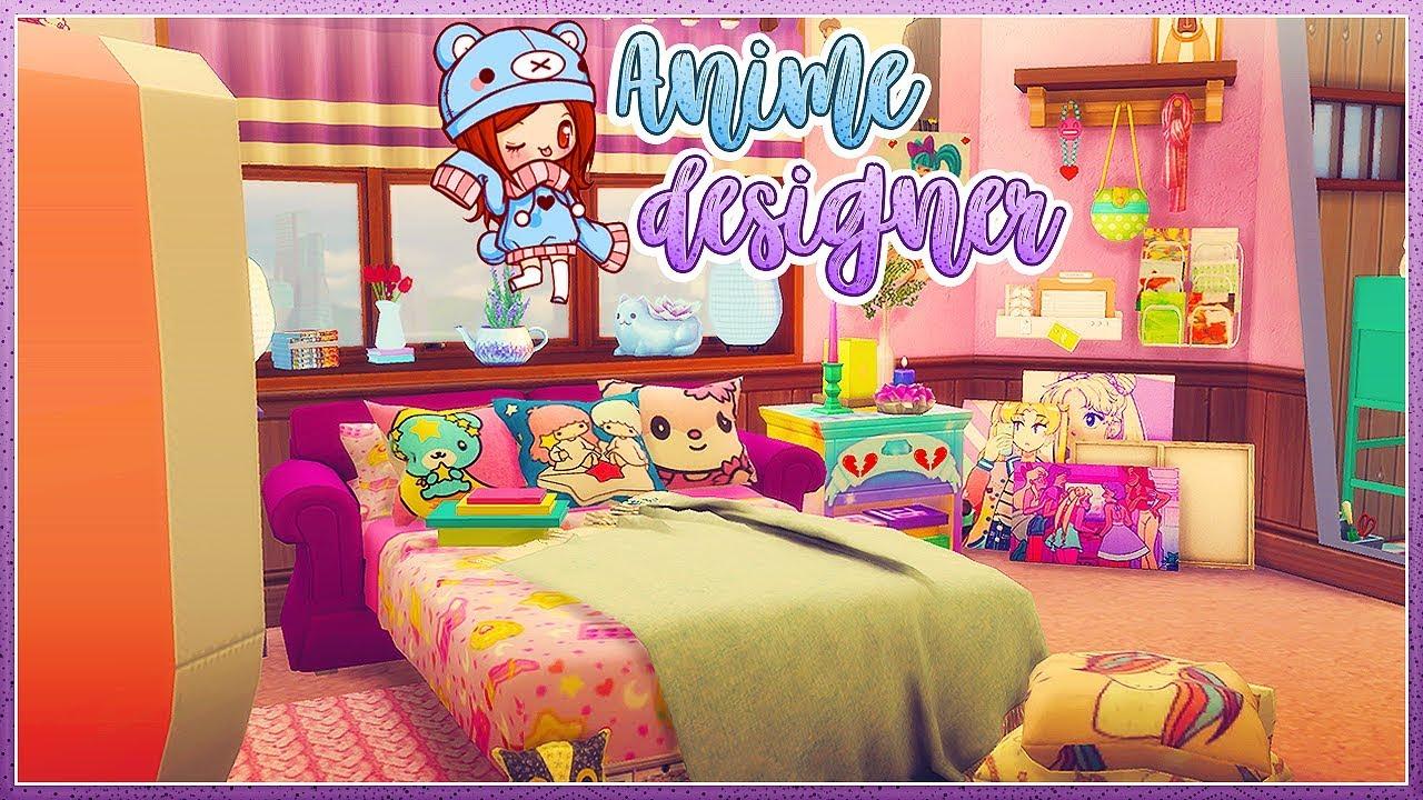 Sims 4 anime designer bedroom🏩