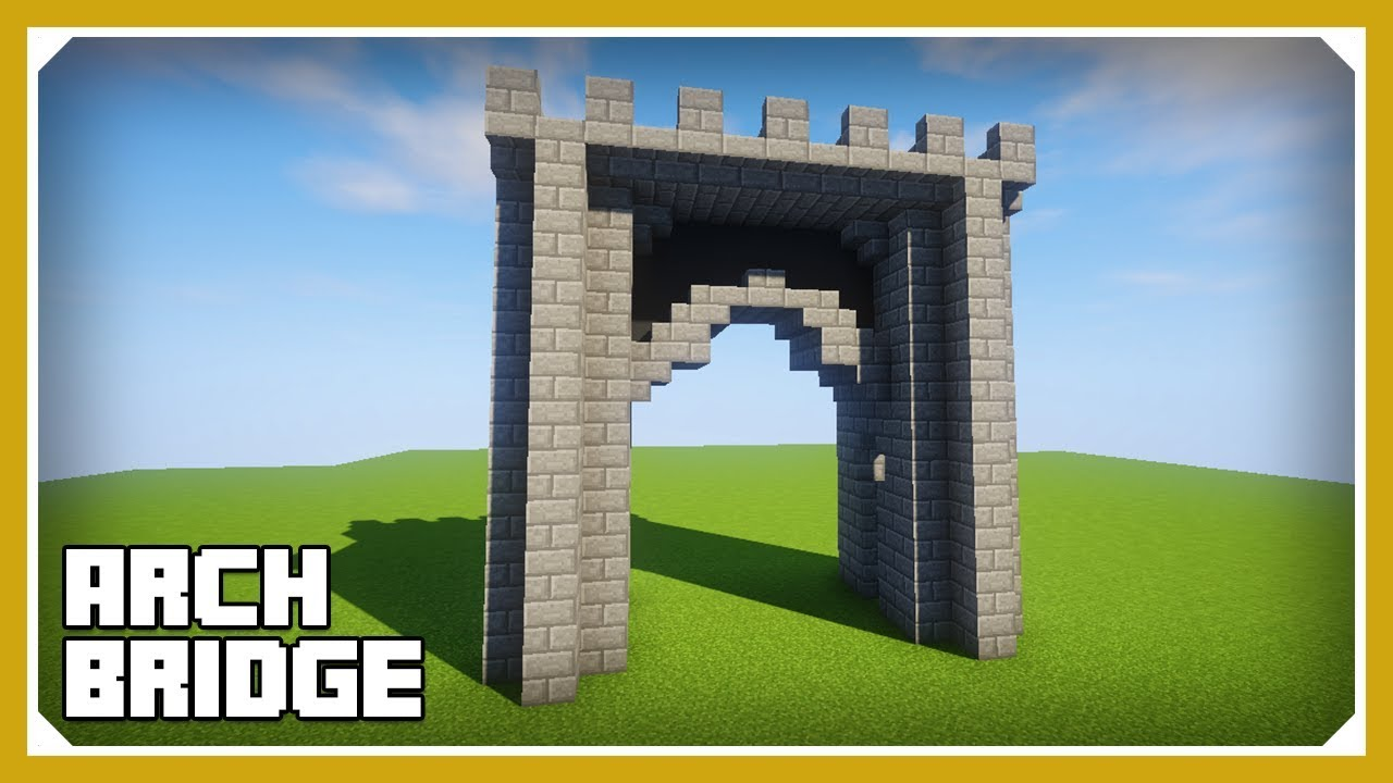 how to make arches in minecraft
