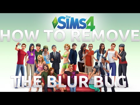 The SIMS 4 - How To Remove The Blur Bug