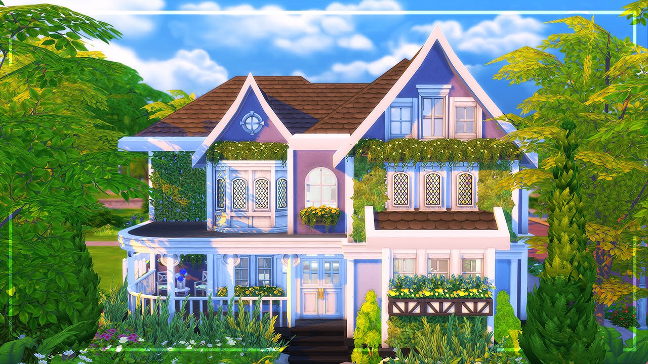 The sims 4 speed build charming family home youtube for The family house