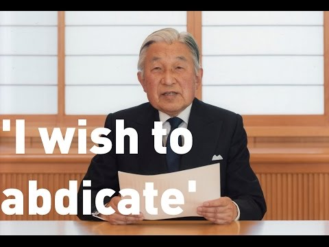 Japan's Emperor Akhito indicates wish to abdicate in rare TV address