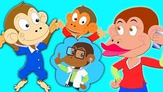 Fünf kleine Affen | Kinderreim fü...