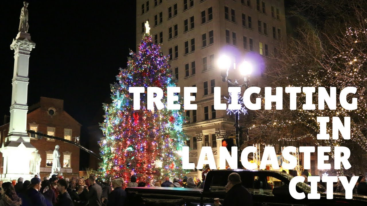 Tree Lighting Santa And The Lancaster Arts Hotel In City