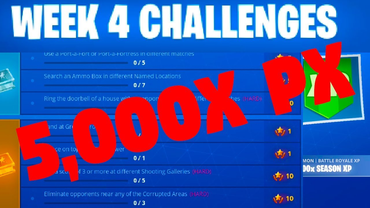 Week 4 Challenges Fortnite Season 6 Youtube