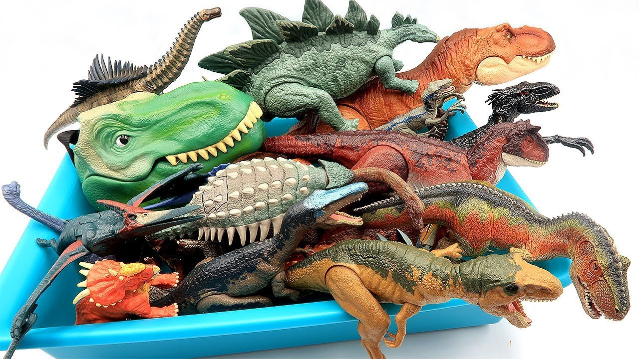 DINOSAUR TOY BOX! Schleich, Jurassic World 2, 공룡메카드, T Rex Head Toys