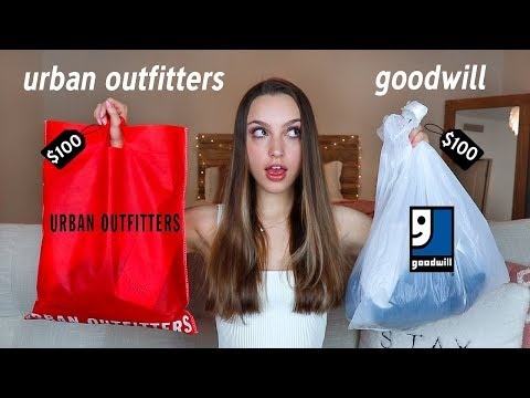 $100 Challenge: Urban Outfitters vs Thrifted!